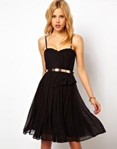 Mango Chiffon Drape Bustier Dress