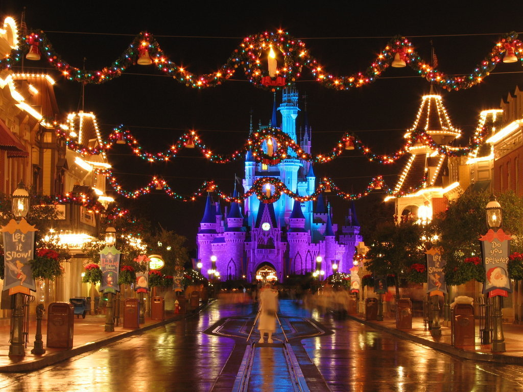 disneyland christmas decorations hd wallpapers